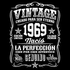 Generation 1969 75th Birthday, Happy Birthday, 50th Party, Baby Album, Ideas Para Fiestas, Vintage Party, Life Motivation, Birthday Shirts, Cool Shirts