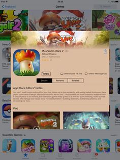 Custom game page by Apple