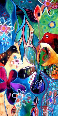 Secret Garden. Tracy Verdugo. 2011. 46x91cm. Acrylic on canvas. Sold. http://artoftracyverdugo.blogspot.com