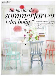 BOLIGMAGASINET no. 161 June 2013. Pastel Pom Pom's and a fragrance of summer. Made by stjernestunder.dk