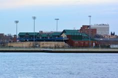 "Campbell's Field, former home of the Camden Riversharks baseball team, who left the area when they couldn't reach an agreement on the leasing terms with the owners of the stadium. The team now resides in New Britain, Connecticut, and are know as the ""New Britain Bees."" The venue is now the home of the Rutgers-Camden college baseball team."