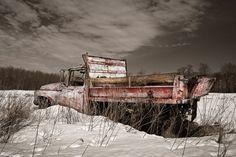 Old dump truck photography print by garyhellerphotograph