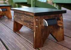 DIY Wooden Footstool - Get the tutorial to make your own. virginiasweetpea.com
