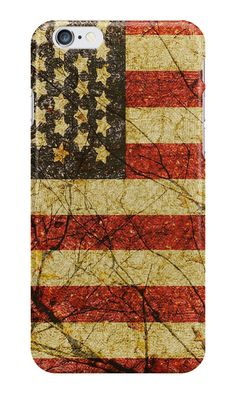 Vintage Grunge Usa Flag print iphone case designed by #dflcprints and produced by  #redbubble