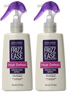 John Frieda Frizz-Ease Heat Defeat Protective Styling Spray 6 oz (Pack of Fine Curly Hair, Curly Hair Styles, Natural Hair Styles, Permed Hairstyles, Frizzy Hair, Synthetic Wigs, Protective Styles, Naturally Curly, Hair Sprays