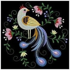Decorative Birds 9 - 3 Sizes! | What's New | Machine Embroidery Designs | SWAKembroidery.com Ace Points Embroidery