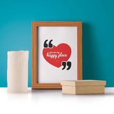 Affiche Citation amour   Poster imprimable Déco chambre