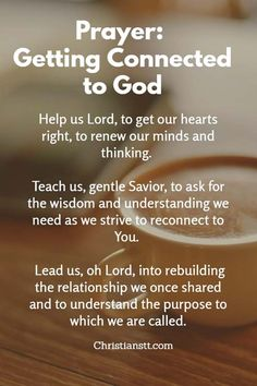 Prayer: Getting Connected to God