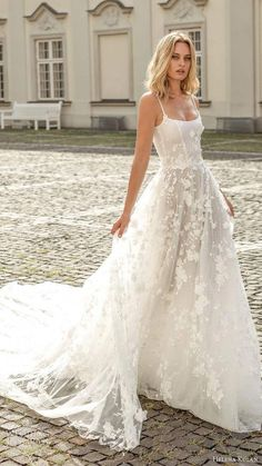 helena kolan 2020 bridal sleeveless thin straps scoop neckline fully embellished a line ball gown wedding dress scoop back cathedral train 1 mv - Helena Kolan 2020 Wedding Dresses Wedding Inspira Wedding Dress Black, Wedding Dress Mermaid Lace, Boho Wedding Dress With Sleeves, Wedding Dress Trends, Country Wedding Dresses, Modest Wedding Dresses, Mermaid Dresses, Bridesmaid Dresses, Elegant Dresses