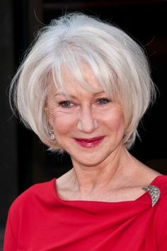 I am 42 and the first greys have appeared around my temples. I am not going to dye my hair as I actually like my bits of grey but I would love to eventually go grey as stylishly as Helen Mirren. I wonder though is there some sort of gloss product in her hair that makes it so shiny and healthy looking?