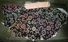 8 Pc Retro Meridian Textiles Fabric Sample by VintageClothesNJunk