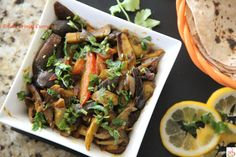 This Aloo Baingan ki subji is a simple and quick side dish that pairs well with… Quick Side Dishes, Japchae, Curry, Potatoes, Cooking, Ethnic Recipes, Food, Kitchen, Curries