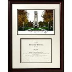 University of Toledo Rockets Graduation Diploma Frame & Picture