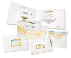 Invitation for a wedding at The Breakers, Palm Beach by Ellen Weldon Design