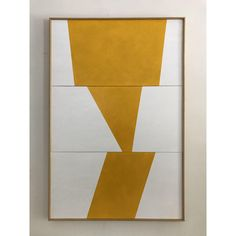 "Image of Original Painting ""Triple Yellow Semblance "" by Jason Trotter"