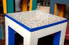 Resultado de imagen para mesas pintadas divertidas
