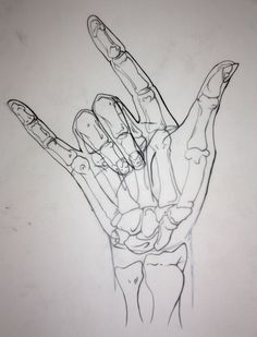 Skeletal Hand by ~Yuwi on deviantART