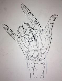 Skeletal Hand by ~Yuwi on deviantART