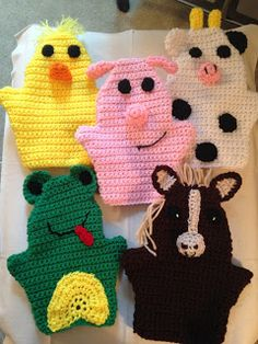 The Perfect Stitch. - The Perfect Stitch…: Farm Animal Puppets… - Octopus Crochet Pattern, Crochet Toys Patterns, Stuffed Toys Patterns, Crochet Crafts, Crochet Dolls, Crochet Projects, Crochet Horse, Crochet Animals, Crochet Toddler