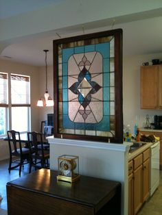 stain glass window.