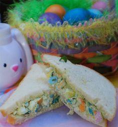 Colourful egg salad sandwiches #BlueRibbonBread