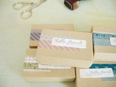 Ways to use Washi Tape, for the little boxes in gift giving.