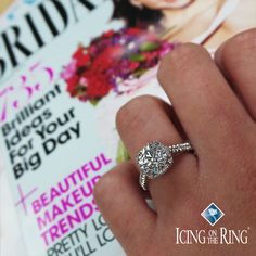 Gorgeous engagement ring selfie with bridal magazines... something you will definitely need!