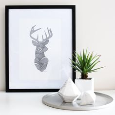 Deer me! Where did the weekend go? I've had a wonderful couple of days and a particularly lovely afternoon catching up with fab friends and relaxing in this gorgeous weather. I hope you've all had a lovely weekend too. Deer print by the clever @pennedblack. #whitefoxstyling
