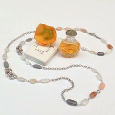 Collar largo minerales y plata