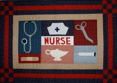 Looking for your next project? You're going to love Nurse Wall Hanging Pattern by designer Seagull Quilts. Applique Wall Hanging, Quilted Wall Hangings, Hand Quilting, Machine Quilting, Quilting Ideas, Nurse Art, Hand Applique, Mini Quilts, Mug Rugs