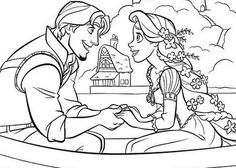 Tangled coloring page for the kids