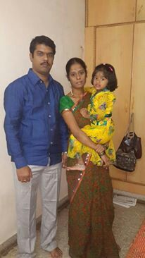 With daughter