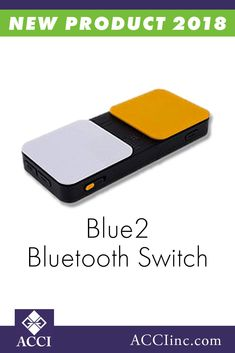 The Blue2 Bluetooth switch provides single or dual switch access to iDevices running iOS 7, Apple desktop or laptop computers running OS X Mavericks, and all switch accessible apps or software on iOS, OS X, Windows, and Android!