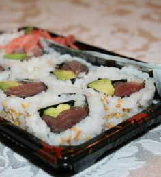 Tuna Avocado Roll--one of my favorite things ever.