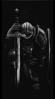 Fantasy Concept Art, Dark Fantasy Art, Templar Knight Tattoo, Crusader Knight, Samurai Artwork, Christian Warrior, Warrior Tattoos, Deep Art, Angel Warrior
