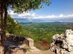 Foto vanaf de Keijzerstroon richting Albanië.