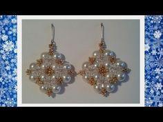 Winterglow Earrings Beading Tutorial by HoneyBeads - YouTube