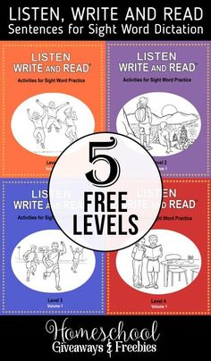 5 FREE Levels of Listen, Write and Read Sentences for Sight Word Dictation