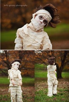 Mummy May? | Scary and Cute Looks For Kids And Adults by DIY Ready at http://diyready.com/9-diy-mummy-costume-ideas/