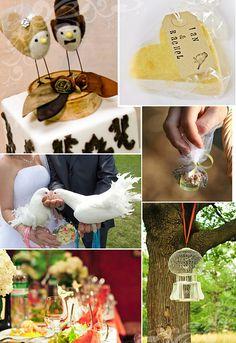 A Love Bird Theme Wedding