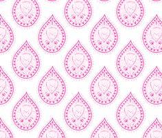 Mumbai in fuschia fabric by domesticate on Spoonflower - custom fabric