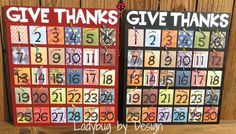 Count Your Blessings Thanksgiving Board
