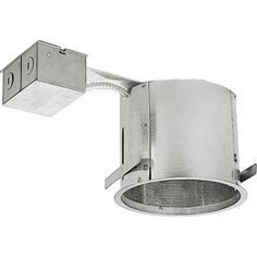 "Progress Lighting P186-TG 6"" Remodel Recessed Housing for Shallow Ceilings - IC Galvanized Recessed Lights Recessed Housings"
