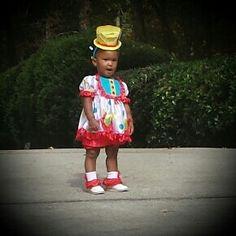 London rocks her Halloween costume