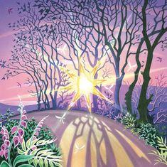 'Sunworship' by Painter David Alderslade. Blank Art Cards By Green pebble. www.greenpebble.co.uk Square Card, Art Cards, Stonehenge, White Envelopes, Wildlife, Greeting Cards, David, Fine Art, Landscape