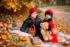 Осень, детская Сьемка, Детки, фотосессия осенью