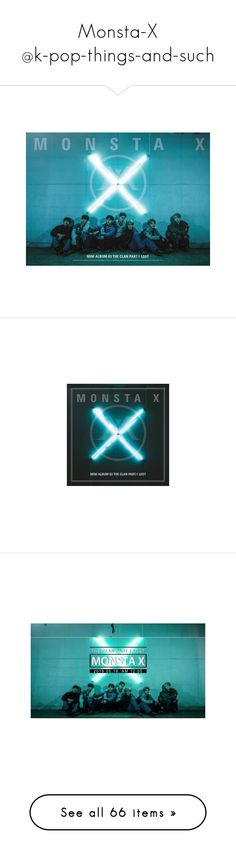 """""""Monsta-X @k-pop-things-and-such"""" by k-pop-things-and-such ❤ liked on Polyvore featuring monsta x, home, home decor, boys, kpop, text, minhyuk, people and wonho"""