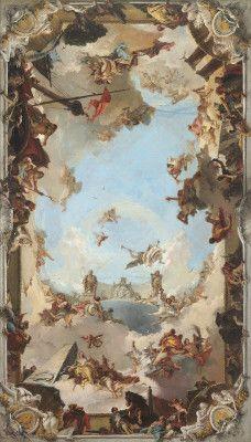 Tiepolo, Giovanni Battista Venetian, 1696 - 1770 Wealth and Benefits of the Spanish Monarchy under Charles III 1762