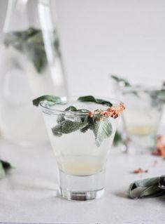 Honey Sage Gin Fizz. | Cocktails | Party Drinks | #cocktails #drinks #party | www.foragekitchen.com