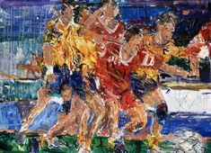Soccer painting for Sports Academy and Racquet Club by Jeremy Winborg